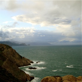 Rough coast off Annaba, northern Algeria